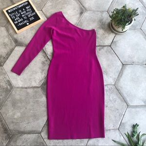 Diane Von Furstenberg Pink Ribbon Knit Dress